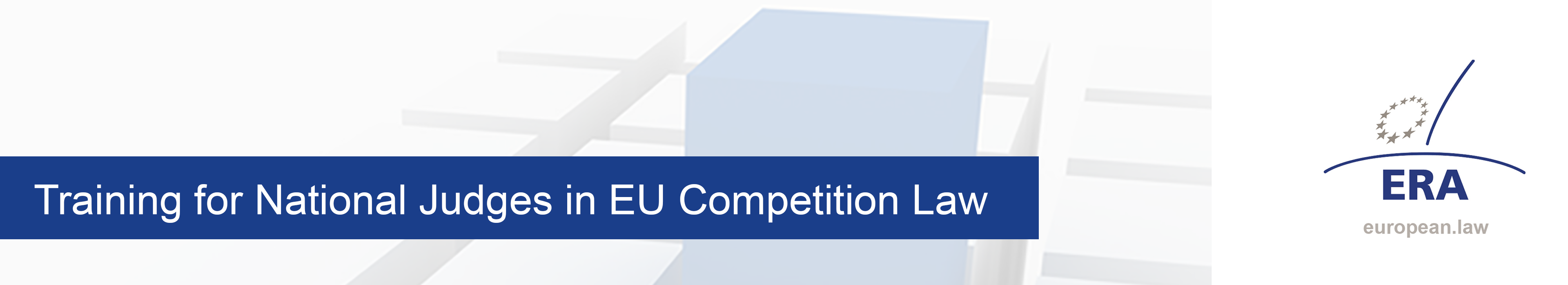 Training for National Judges in EU Competition Law