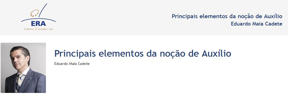 e-Presentation Eduardo Maia Cadete (220SDV44): Principais elementos da noção de Auxílio