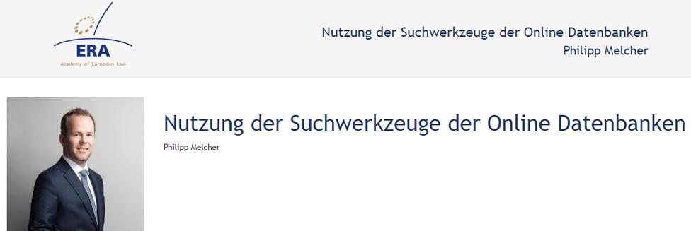 e-Presentation Philipp Melcher (220SDV154): Nutzung der Suchwerkzeuge der Online Datenbanken