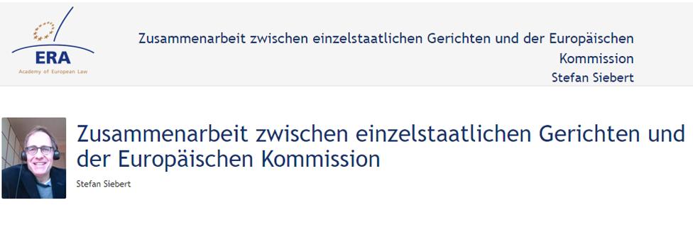 e-Presentation Alexandra von Westernhagen (220SDV154): Die Rückforderung rechtswidriger staatlicher Beihilfen